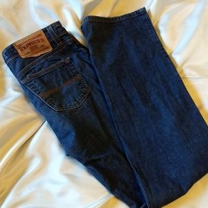 EXPRESS Precision Fit Low Rise Boot Cut Jeans